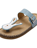 Women's Slippers & Flip-Flops Summer Flip Flops / Open Toe Pigskin Casual Flat Heel Others Blue / Yellow Others