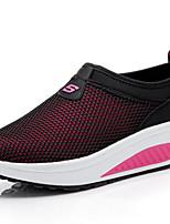 Damen-Loafers & Slip-Ons-Outddor / Lässig-Leinwand / Tüll-Plateau-Creepers-Blau / Rosa / Rot