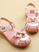 Girl's Sandals Spring / Summer Sandals PU Outdoor / Casual Flat Heel Bowknot Pink / White Walking