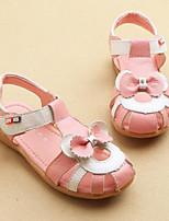 Розовый / Белый-Для девочек-Для прогулок / На каждый день-Полиуретан-На плоской подошве-Сандалии-Сандалии