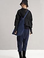 rizhuo Frauen festen blauen Harem pantssimple Frühjahr / Herbst