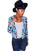 Women's Casual/Daily / Work Vintage / Street chic Fashion Slim OL Style Spring / Fall BlazerFloral Cowl Long Sleeve