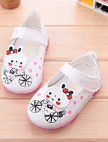 Boy's Sneakers Fall Flats Leather Casual Flat Heel Buckle Pink / Red / White Others