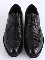 Men's Flats Spring Summer Mary Jane Leather Casual Flat Heel Others Black Walking