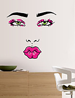 Wall Stickers Wall Decals Red Lip Feature Removable Washable PVC