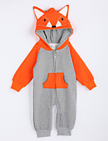 Girl's Casual/Daily Color Block Overall & JumpsuitCotton Fall Gray