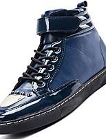 Черный Синий Красный-Мужской-Для прогулок Повседневный Для занятий спортом-Полиуретан-На низком каблуке-Удобная обувь Военные ботинки