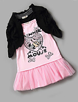 Girl's Casual/Daily Print DressCotton Spring / Fall Pink / Red