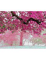 3d эффект нетканое большой настенной росписи обои розовые цветы дерево искусство декора стен обои