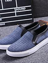 Черный / Синий-Мужской-На каждый день-Кожа-На плоской подошве-Удобная обувь-Мокасины и Свитер