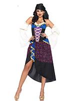 Costumes Plus de costumes Halloween Bleu Mosaïque Térylène Robe / Plus d'accessoires
