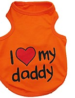 Cat / Dog Vest Orange / Blue / Pink / Gray Dog Clothes Summer Hearts Cute / Casual/Daily