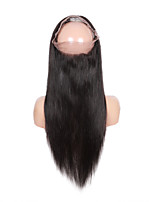 360 Lace Band Frontal Closures Straight Ear To Ear Lace Closures With Baby Brazilian Virgin Human Hair Lace Closure