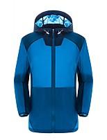 Men's Tops Camping / Hiking Breathable Thermal / Warm Spring Summer Fall/Autumn Yellow White Lake Blue