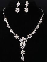 Schmuck Halsketten / Ohrringe Halskette / Ohrringe Modisch Hochzeit 1 Set Damen Silber Hochzeitsgeschenke