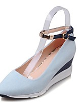 Women's Flats Flats Denim Outdoor / Dress / Casual Flat Heel Others Blue Others