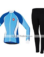 KEIYUEM Winter Thermal fleece Long Sleeve Cycling Jersey Long Tights Ropa Ciclismo Cycling Clothing Suits #W78