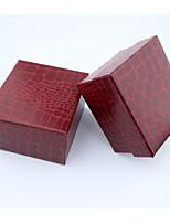 Коробки для бижутерии Ткань 1шт Красный