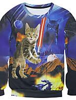 New Fashion Men  Destroy cat flag Printed Pullover Long Sleeve 3d Sweatshirt