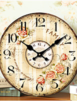 1PC Original Retro Room Parlor Classroom Noiseless Wall Clock