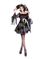 Costumes Plus de costumes Halloween / Fête d'Octobre Noir Couleur Pleine Térylène Robe / Plus d'accessoires
