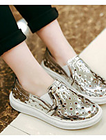 Girl's Flats Spring Fall Microfibre Casual Flat Heel Sequin Others Red Silver Metallic Other