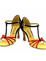 Chaussures de danse(Bleu / Violet / Rouge / Argent / Or) -Personnalisables-Talon Personnalisé-Similicuir-Latine / Salsa