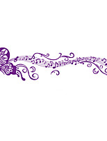 Wall Stickers Wall Decals Happy Purple Butterfly Feature Removable Washable PVC