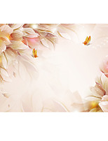 3D Effect Non-woven Large Mural Wallpaper Warn Flowers and Butterfly Art Wall Decor Wall Paper