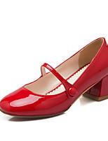 Women's Heels women pumps ls Round Toe / Closed Toe Leatherette Office & Career / Dress / Casual Chunky Heel