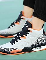 Men's Athletic Shoes Summer Flats PU Athletic Flat Heel Others Black Gray Orange Basketball