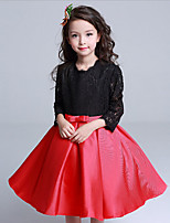 Girl's Casual/Daily Solid DressCotton / Polyester All Seasons Black