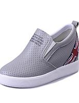 Черный / Белый / Серый-Женский-На каждый день-Полиуретан-На плоской подошве-Удобная обувь-На плокой подошве
