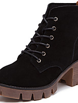 Women's Boots Spring / Fall / Winter Combat Boots Suede Office & Career / Casual Chunky Heel Black / Brown