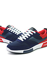 Men's Sneakers  Comfort / Round Toe / Closed Toe  Casual Flat Heel Lace-up Black / Blue / Royal Blue /Black and Red