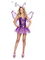 Costumes Déguisements de princesse Halloween / Fête d'Octobre Pourpre claire Couleur Pleine Térylène Robe / Plus d'accessoires