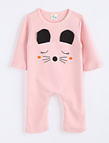 Girl's Casual/Daily Animal Print Overall & JumpsuitCotton Fall Pink