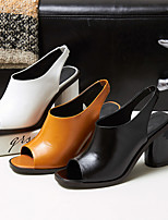 Women's Heels Spring / Fall Heels Rubber Casual Chunky Heel Others Black / Yellow Others