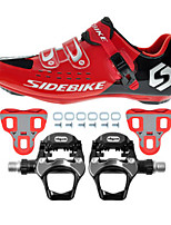 SD001 Cycling Shoes Road Bike Sneakers Damping / Cushioning Red/Black-sidebike And WeigeR251 Rock Pedals