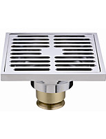 PHASAT Bathroom Accessory Chrome Finish Solid Brass Floor Drain
