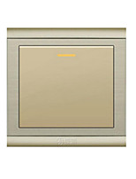 86 Type Champagne Gold One Open Double Control Wall Switch