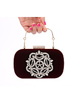 Women Velvet Formal / Event/Party / Wedding Evening Bag/Velvet Diamonds Bag/Purse/Clutch