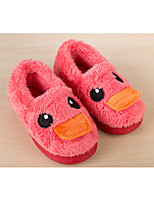Girl's Loafers & Slip-Ons Fall Winter Fleece Casual Flat Heel Others Yellow Red Coffee Other