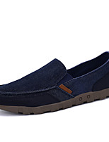 Men's Loafers & Slip-Ons Spring / Fall Comfort Fabric Casual Flat Heel Slip-on Blue / Brown / Gray Sneaker