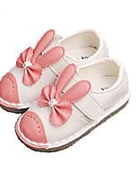 Розовый / Белый-Для девочек-Для прогулок / На каждый день-Дерматин-На плоской подошве-Удобная обувь-На плокой подошве
