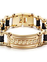 Kalen® New 18K Dubai Gold Plated Charm Bracelet 316L Stainless Steel Link Chain&Leather Bracelet Fashion Accessories