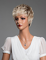 Beautiful Natural Curly Short Human Hair Capless Wigs Secondary Color 10 Inchs