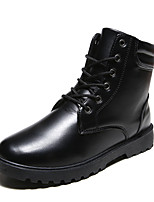 Men's Boots Fall / Winter Comfort / Combat Boots  Casual Flat Heel Lace-up Black / Brown / White Walking