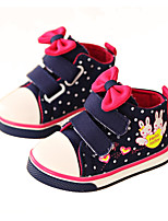 Unisex Flats Spring / Fall Round Toe Canvas Casual Flat Heel Others / Lace-up Blue / Pink / Red Others