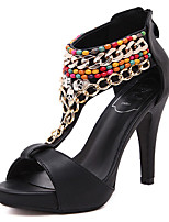 Women's Sandals Summer PU Casual Stiletto Heel Others Black Others